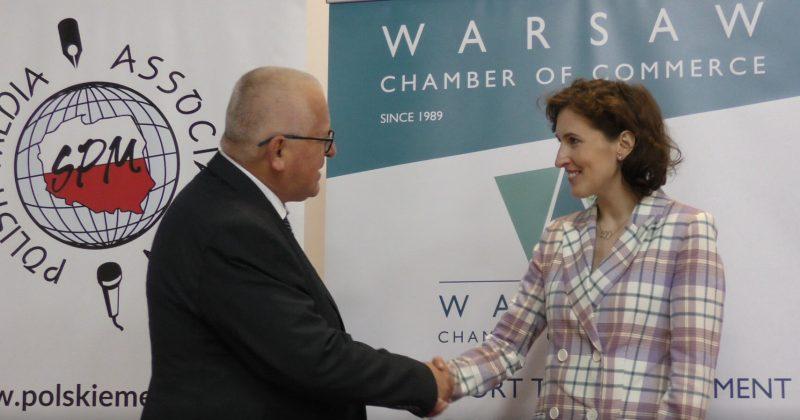 Вице президент Санкт-Петербургской ТПП Екатерина Лебедева провела в Варшаве деловую встречу с Председателем Варшавской ТПП Марком Трачиком